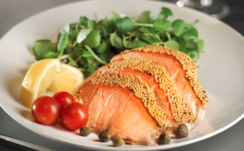 Kiln Roasted Salmon with Honey & Mustard Seed 160g